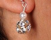 Swarovski Crystal Rhinestone Ball Drop Earrings, The Molly