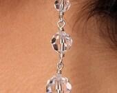 Swarovski Crystal Long Graduated Drop Bridal Earrings