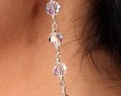 Bridal Bridesmaid Earrings Swarovski Crystal Briolette Drop Earrings, Brenna