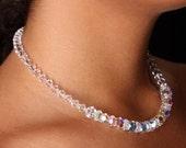 Swarovski Crystal Aurora Borealis AB Bridal Choker Necklace, The Melana