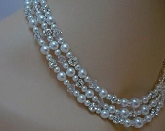 Swarovski Crystal Tiny Teardrop Sterling Silver Bridal