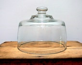Vintage Glass Dome Cloche by EitherOrFinds on Etsy