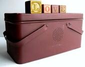Vintage Tin Box - Lunch Pail - Storage - Industrial Home Decor - Modern Farmhouse