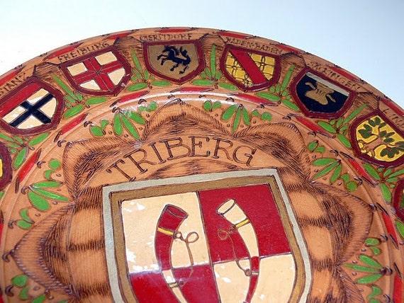 Vintage German Plate
