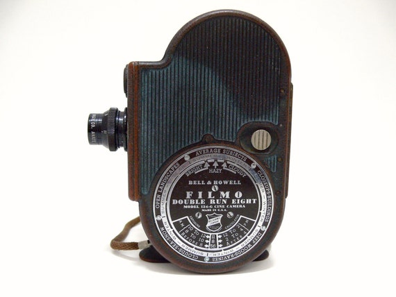 Vintage Bell and Howell Filmo Double Run Eight Camera Model 134G Cine Collectible Electronics movie camera