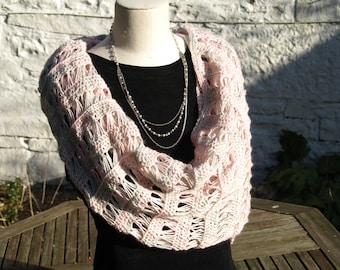 PATTERN - broomstick lace shawl wrap crochet