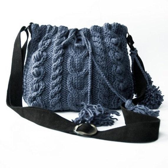 Blue messenger Bag with adjustable long strap