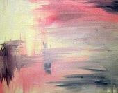 Abstract Painting Red/White/Black