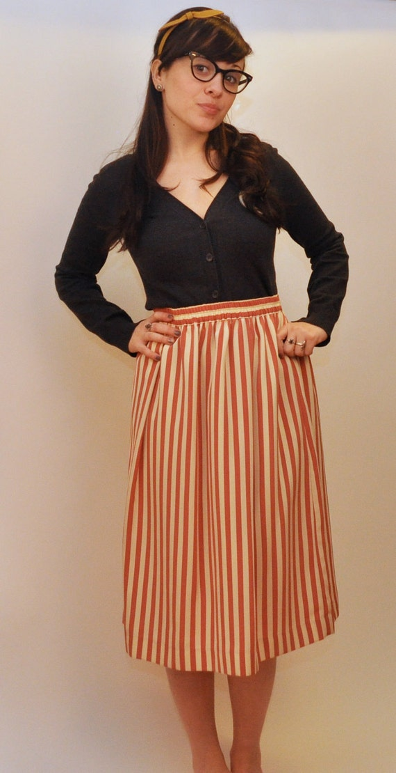 Candy Pin Striped Skirt