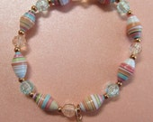 Copperdust Paper Bead Stretch Bracelet