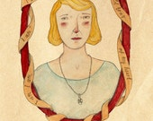 Sylvia Plath Limed Edition Giclee Print  by Bett Norris