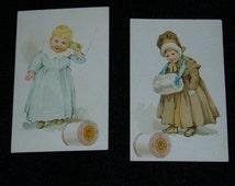 Antique Advertising Cards, J. & P. Coats, Thread