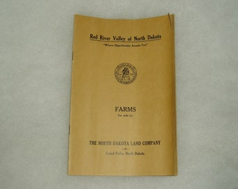 Red River Valley Farm Sale Advertising Brochure, c. 1920