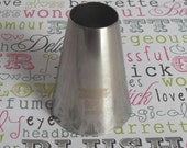 Extra Large Round Cupcake Decorating Pastry Tip - Professional Stainless Steel