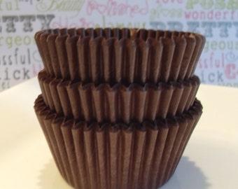 BULK Chocolate Brown Cupcake Liners Professional Grade and Greaseproof - (500)