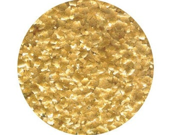 Bulk Metallic Gold Edible Glitter for Decorating Cakes and Cupcakes, Gold Edible Glitter for cookies, cakes, cakepops -  Mega 4 oz. jar