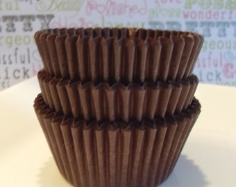 Chocolate Brown Cupcake Liners, Professional Grade, Greaseproof - 100 Count