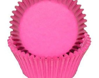 100 Hot Pink Cupcake Liners, Baking Cups - Professional Grade and Greaseproof