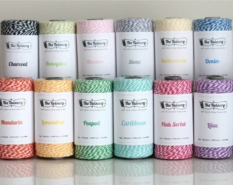 Bakers Twine for decorating favors, gifts and scrapbooking, 4 ply Cotton Eco-luxe Bakers Twine  (1) 240 yard spool