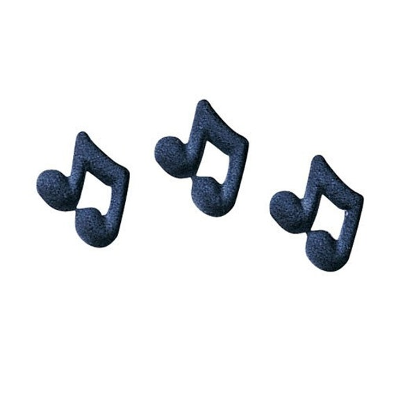 Music Notes Edible Sugar Decorations for Cakes and Cupcakes (24)