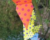 Origami Crane Garland, Colorful Polka Dot for decoration, Garden Party or Wedding