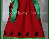 Custom NEW Spring Summer Watermelon dress 3m-5t