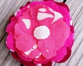 Large Shades of Pink Flower Hair Barrette