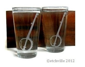 Banjo Pint Glasses
