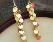 Belly dancer - matte gold tiny disk cluster earrings (Available in silver)