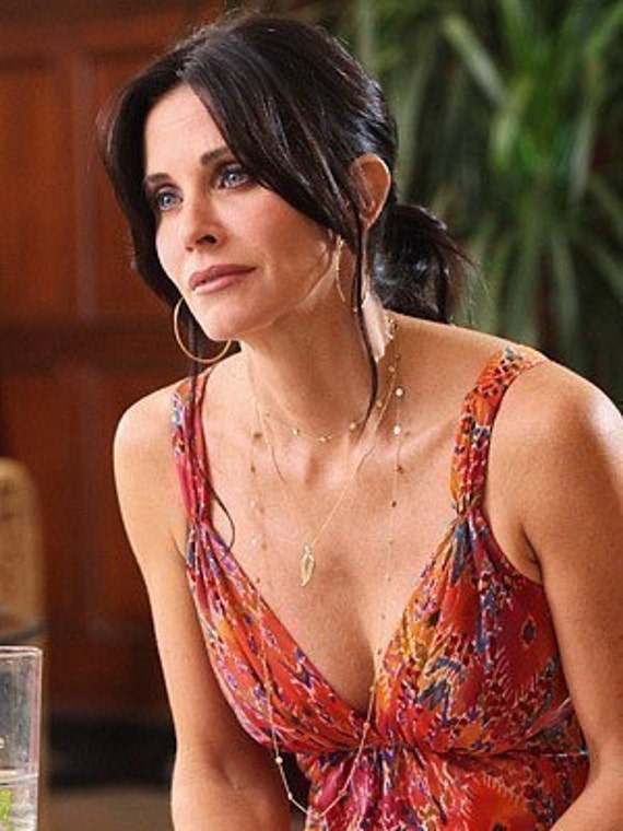 LOVE SALE Cougar Town Long 54 Inch Wrap Around Jules Cobb Courtney Cox Necklace GOLD