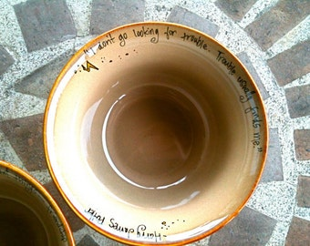 Custom Quote Bowl - You Choose the Quote - Made to Order