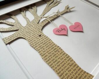Newborn Baby Gift, Personalized Nursery Rhyme Song Tree, Nursery Art, Unique baby shower gift, Framed Birthday Art