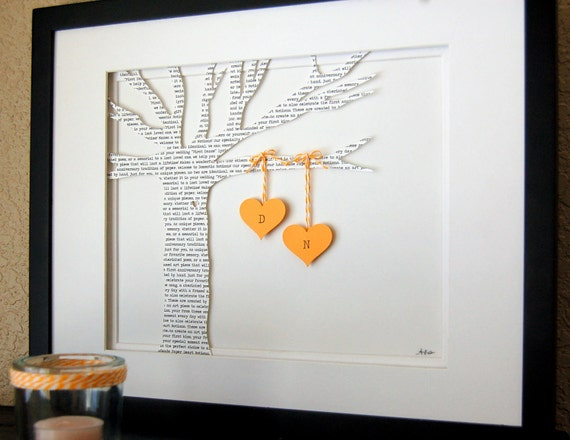 Personalized Wedding Gift: First Dance Song Lyrics 3D Paper Tree - Customized & FRAMED