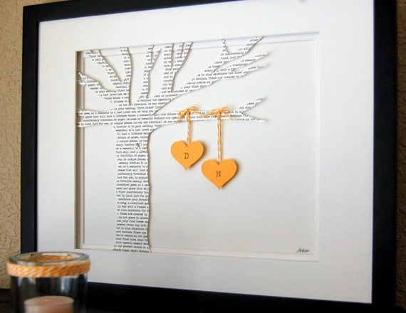 A Wedding Present For The Bride : Personalized Wedding gift, ANNIVERSARY gift, Initials, bride & groom ...