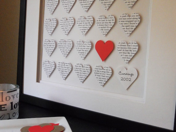 Wedding Gift Ideas For Your Husband : Wedding Gift: Personalized Hearts, Custom Wording, Newlywed Gift ...