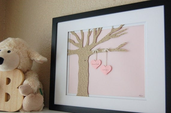 Unusual New Baby Gift Ideas : Baby gift personalized nursery tree new lullaby