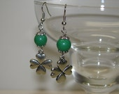 Beautiful Earrings with a touch of green