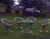 """In Or Outdoor Spaceage Furniture  """"Crazy""""  I Have Them Now In Our Kitchen Being Used With A Newer Glass Top"""