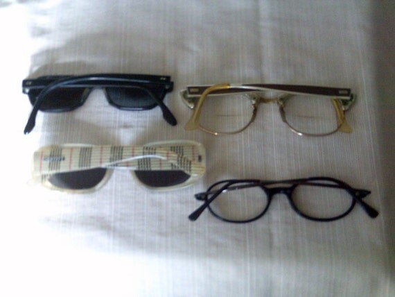 On Hold For Ms. Betty Please Set Of 4 Vintage EyeGlasses