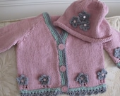 Little Sweet Peas Sweater and Hat Set