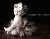 Once Upon a Fairy Tale Vintage Golds, Champagne, and Creme Headband - Stunning - All Sizes Available - Perfect Photo Prop