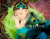 PEACOCK NOIRE - Gorgeous Luxe Top and Headband - Newborn - 18 months