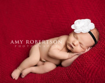 SIMPLICITY - A Classic Black and White Headband - Preemie to Adult Sizes Available