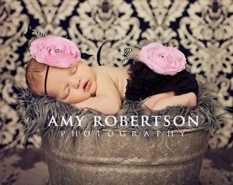 CHIC BEBE Headband or Clip - Newborn to Adult Sizes Available