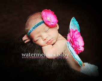 COTTON CANDY DREAMS - A Butterfly Angel Pixie Wing SeT - Wings and Headband