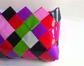 origami bag,candy wrapper purse,colorful wallet,multicolor