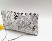 origami ,bridesmaid clutch bag,magazine paper wrapper HANDBAG