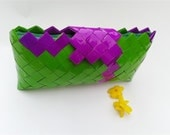 bridesmaid clutch bag,origami bag,candy wrapper purse,purple and green clutch