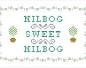 """Troll 2 """"Nilbog Sweet Nilbog"""" cross stitch pattern PDF"""