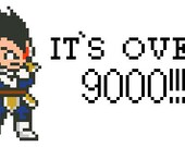 Dragon Ball Z Over 9000 cross stitch pattern PDF